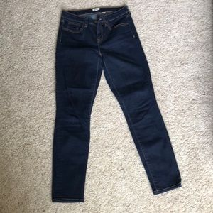 J Crew dark blue stretch ankle jeans size 25